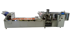 CBS30-1428 automatic inline conveyor heat sealing machine with integrated robotic product handling and end-of-line automation