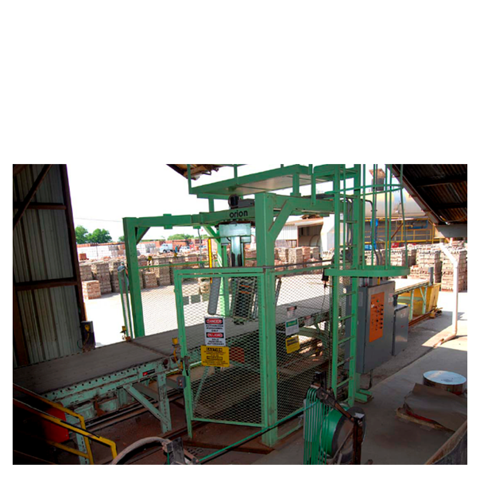 Infeed Staging Conveyor to Stretch Wrapping to Accumulation Conveyor