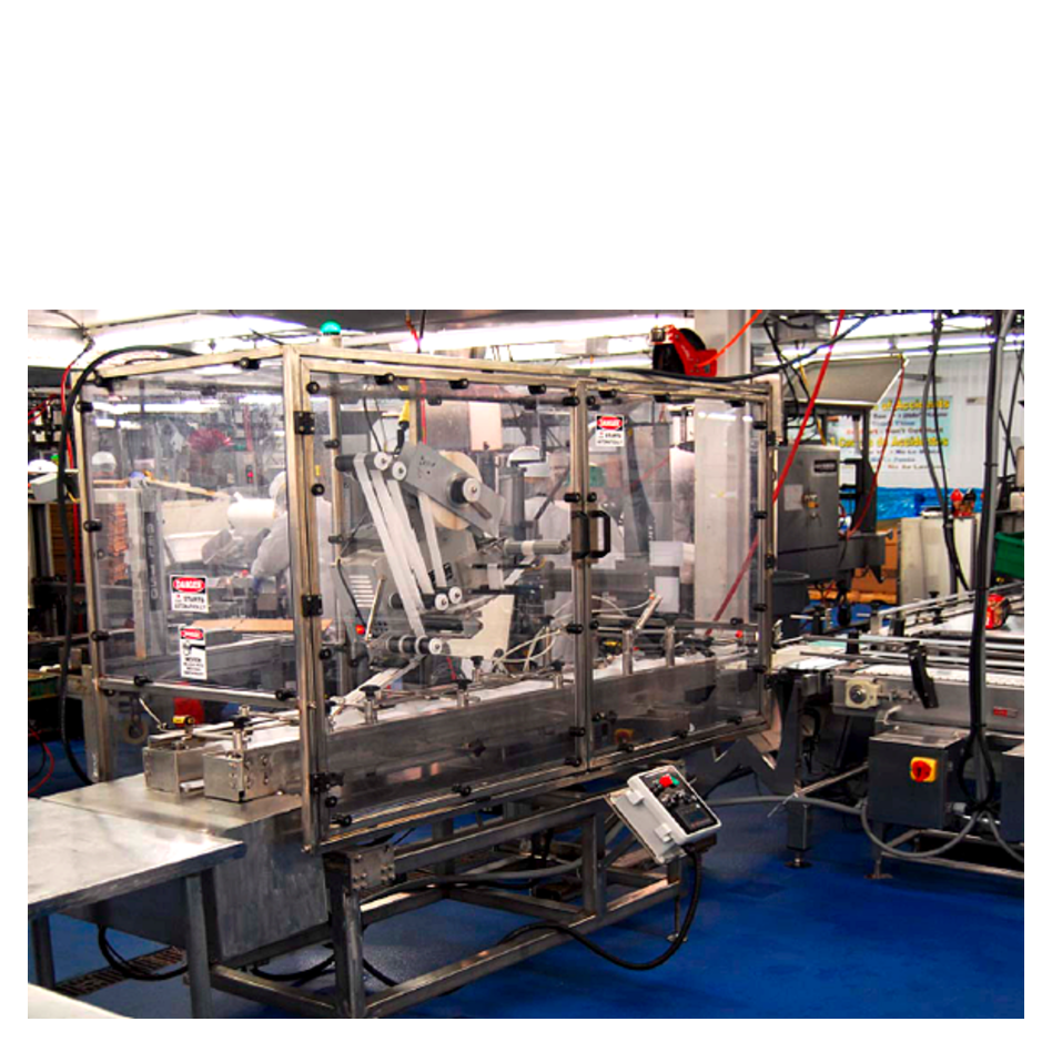 Inline Timing Screw Carton Closing and Labeling System