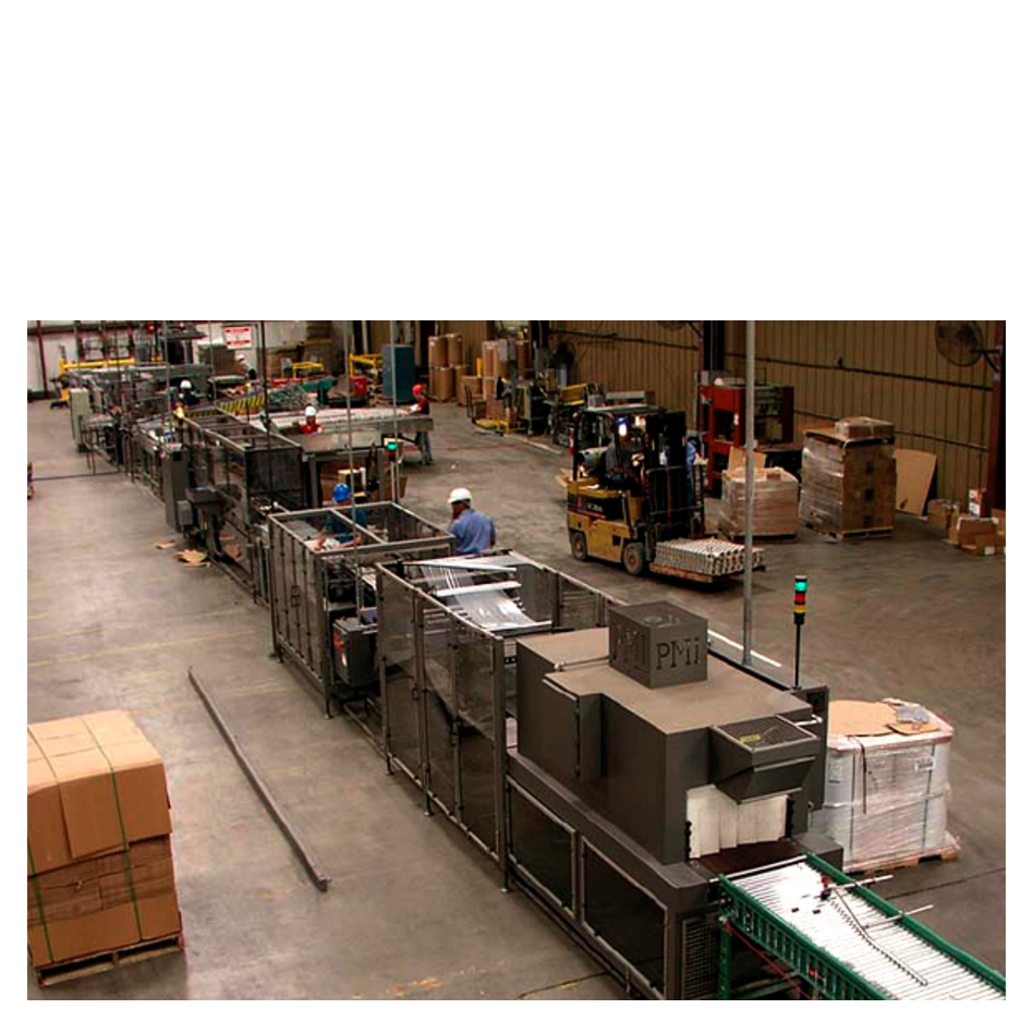 Overview of Entire Automatic Packaging Line