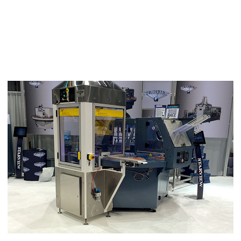FAB8-1418-3 automatic rotary blister packaging machine with Fanuc spider robot product loading system from ESS Technologies