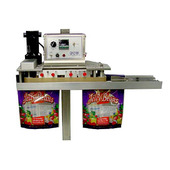 APM VBS-3/8 Vertical Rotary Band Sealer with Product