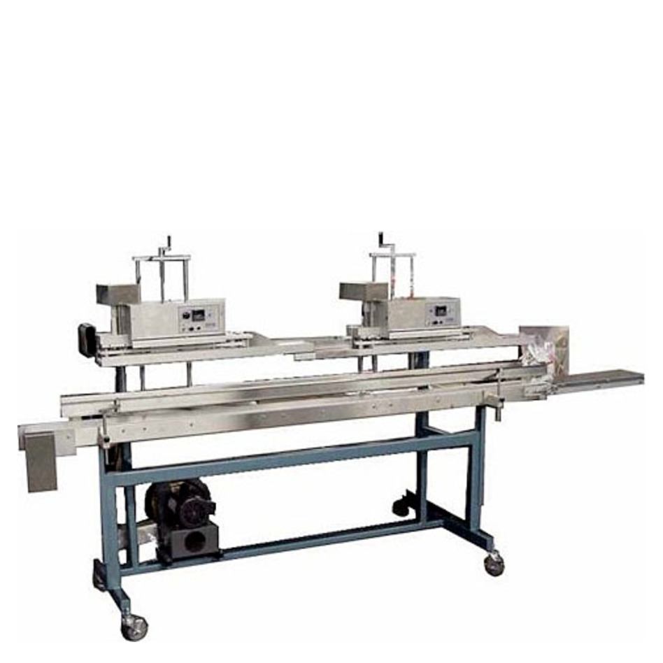 APM VCBS-1/4 Dual Head Vertical Conveyorized Band Sealer