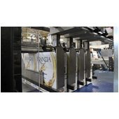 Arpac PC-2500 Continuous Motion Wrap-Around Case Packer Product Run