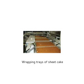 Arpac TS33CF Wrapping Trays of Sheet Cake