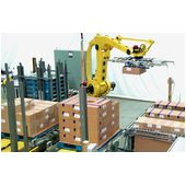 Pearson RPC Robotic Palletizer Loading Cases onto Pallets