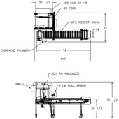 Rennco 301 SF Vertical L-Bar Sealer Drawing