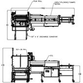 Rennco 501 SF Vertical L-Bar Sealer CCL Drawing