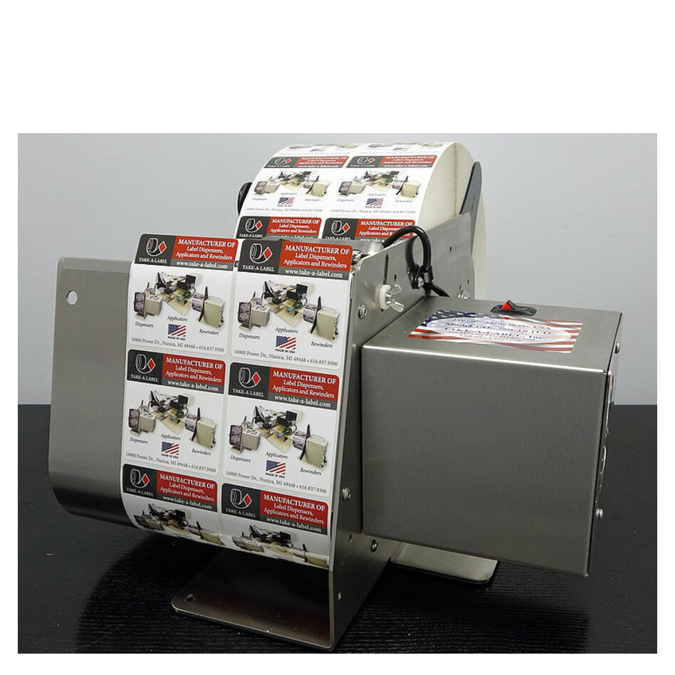 Take-A-Label TAL-750SS Stainless Steel Label Dispenser