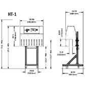 Tripack HT-1 Shrink Label Convection Heat Tunnel Drawing