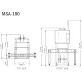 Tripack MSA-180 Shrink Label Applicator Drawing